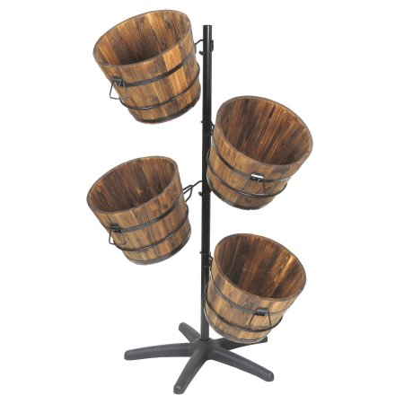Small Display Stand With 40 Wooden Display Barrels Gorgeous Small Wooden Display Stands
